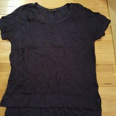 RAG AND BONE NAVY  BLUE MESH TOP Worn once in good condition. No stains no holes. Very good piece. rag & bone Tops Tees - Short Sleeve