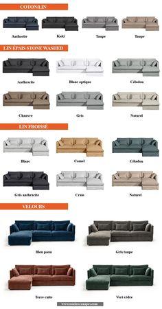 Revêtements et coloris du canapé d'angle CAMILLE de AMPM Living Room Tv Unit Designs, Living Room Sofa Design, Room Design Bedroom, Bedroom Furniture Design, Sofa Furniture, Home Decor Furniture, Corner Sofa Design, Sofa Bed Design, Wooden Sofa Designs