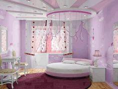 Pretty purple girls room