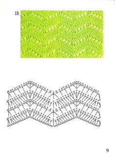 Delicadezas en crochet Gabriela: Patrones de puntos ondulados