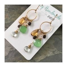 Simply stunning multi gemstone dangle earrings!  Now available in the Etsy shop!