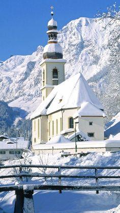 Snow covered church