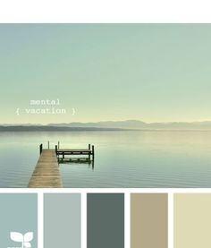 These colors remind me of early mornings waking up on the lake where I grew up...
