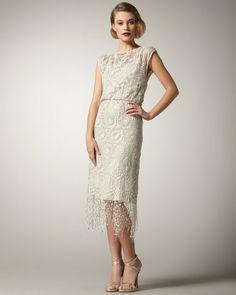 Lace Fringe Dress - Lyst