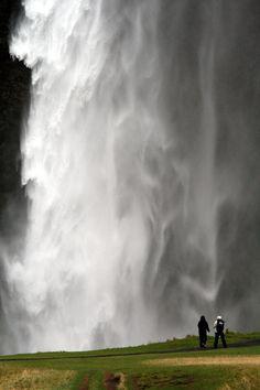 Under Seljalandsfoss Waterfall, Iceland