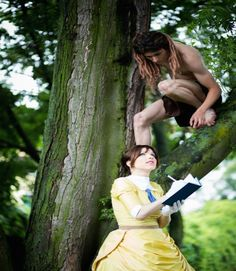 Positively gorgeous shot of a cosplay of Tarzan and Jane. This cracks me up. Tarzan And Jane Costumes, Disney Couple Costumes, Disney Couples, Disney Love, Cute Couples, Disney Stuff, Cute Costumes, Cosplay Costumes, Halloween Costumes