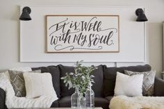 How To Fill The Area Above Your Sofa