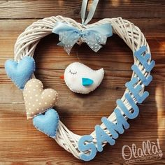 17 ideas baby boy diy newborn for 2019 Baby Crafts, Felt Crafts, My Baby Girl, Baby Love, Baby Hands, Baby Christening, Welcome Baby, Baby Party, Baby Decor