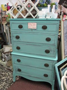 Thrifty Little Things: DIXIE BELLE PAINT DRESSER MAKEOVERS - BEFORE & AFTER