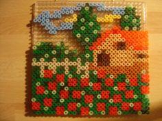 Maison coquelicots hama beads by zoe94