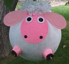 Sheep Pinata. Lamb Pinata. Lambie With Pink Face. by PinataPals