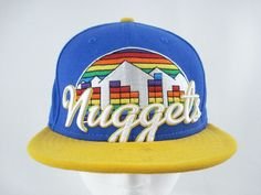 1112ed35faa Denver Nuggets Snapback Hat NBA Vintage Basketball 90s  NewEra   DenverNuggets