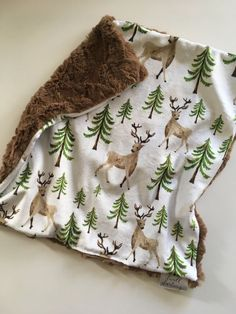 Deer antler security blanket lovey Woodland Forest Animal Baby lovey security Blanket, minky Baby Blanket, Woodland Nursery, Forest Nursery by DwellDarling on Etsy