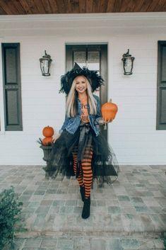 Kids Witch Costume, Hallowen Costume, Halloween Costumes For Girls, Halloween Diy, Witches Costumes For Women, Costume Women Diy, Easy Diy Couples Costumes, Little Girl Witch Costume, Clever Couples Halloween Costumes
