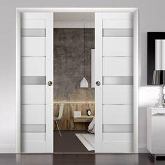 Double Pocket Door, Pocket Door Frame, Glass Pocket Doors, French Pocket Doors, Sliding Closet Doors, Modern Closet Doors, Sliding Pocket Doors, Double Closet Doors, French Closet Doors