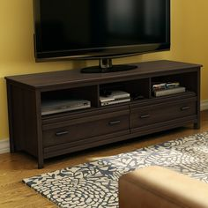 Found it at Wayfair - Exhibit TV Stand -- weathered oak finish not this darker one