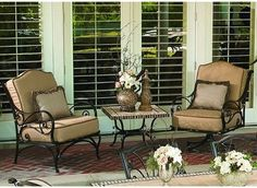 Ashbury Wrought Iron Lounge Chairs can be used inside or out
