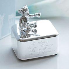 Vera Wang Silver Plated Baby Music Box Christening Gifts
