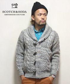SCOTCH & SODA | SCOTCH&SODA ミックスニットカーディガン(カーディガン)