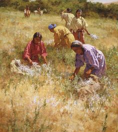 Howard Terpning - Gathering Sage for the Sundance -  Published by the Greenwich Workshop