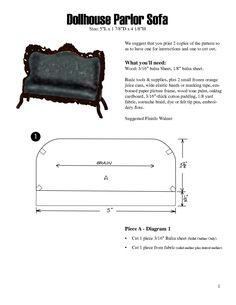 Free Dollhouse Furniture Patterns | scope of work template