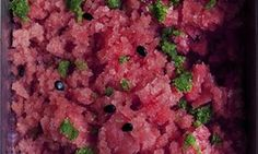 watermelon granita with herb sugar