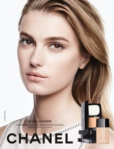 sigridagren for new Chanel beauty campaign SS . Chanel Makeup Looks, Chanel Beauty, Beauty Ad, Beauty Make Up, Beauty Skin, Makeup Ads, Models Makeup, Chanel Foundation, Mode Chanel