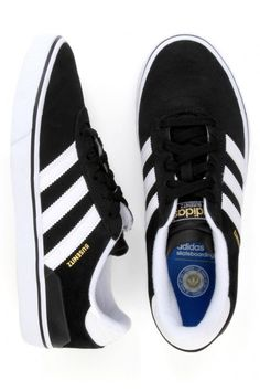 Adidas Busenitz Vulc Shoes - Black/Running White/Black $70.00