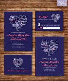 I might like Turauoise font instead of white for these printable Wedding Invitation by DallinsPaperie, $30.00
