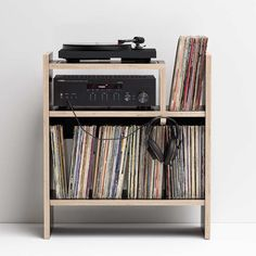 Featuring a vibration isolated turntable platform, the MAX from Symbol Audio is your all-in-one audio storage solution. Record Player Table, Record Cabinet, Vinyl Room, Solid Wood Cabinets, Living Room Remodel, Living Rooms, Vinyl Record Storage, Entertainment Furniture, Audio Room