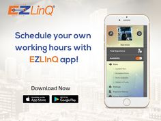 Maximize your driving hours! Register with EZLinQ app and manage when, how and who you work for with absolute hassle free payments! App Store Google Play, Schedule, How To Get, Learning, Free, Timeline, Studying, Teaching