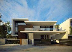 Unbelievable Modern Architecture Designs – My Life Spot Modern Architecture House, Residential Architecture, Modern House Design, Interior Architecture, Villa Design, Facade Design, Exterior Design, Facade House, Modern Exterior