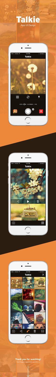 Talkie   App UI Design on App Design Served