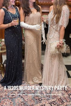 How to Throw a Glam 1920s Murder Mystery Party! #theeverygirl