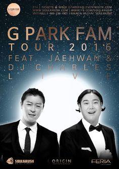 "4/22 Feria LA + 4/23 Origin SF - Get tickets @ www.gparkfam.eventbrite.com (Limited Tickets Remaining) - VIP 1-669-238-1801 KAKAO ""SOULKRUSH"" - www.soulkrush.com"
