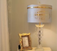 The Polka Dot Closet - lamp shade made from a vintage hat box