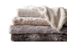 Restoration Hardware luxe faux fur blanket.