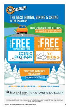 Silver Star Mountain Special Freebie - Summer in the Okangan just got better!