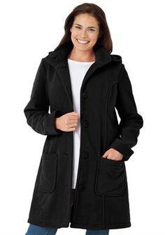 0be52e2bd33 Hooded A-Line Fleece Jacket