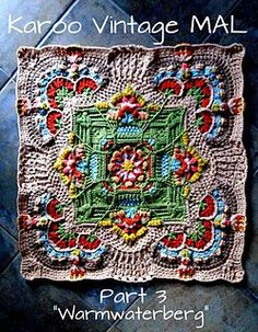 Transcendent Crochet a Solid Granny Square Ideas. Inconceivable Crochet a Solid Granny Square Ideas. Crochet Mandala Pattern, Crochet Motifs, Crochet Blocks, Granny Square Crochet Pattern, Freeform Crochet, Afghan Crochet Patterns, Crochet Squares, Crochet Stitches, Free Crochet