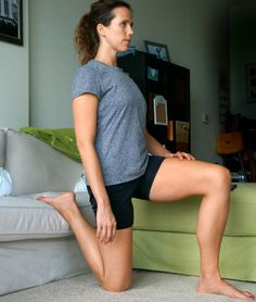 Assisted couch stretch is better for your hips than the normal standing stretch - find 5 more stretches to undo the effects of sitting
