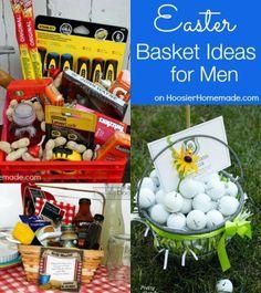 Easter Basket Ideas for Men on HoosierHomemade.com