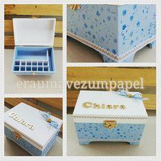 """Caixa de esmaltes inspirada no tema""""Cinderela"""", personalizada com o nome! Um charme..."""