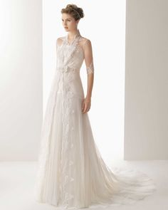 Strapless Court Train Tulle A Line Wedding Dress
