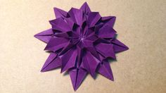 How to make an Origami Dahlia Flower / Tutorial / Instructions Designed by Japanese Traditional Tutorial by Mica My paper : Origami paper 15cm×15cm Subscribe...