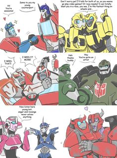 TF - Countdown to TFP season 2 crossovers 1-6 by Rosey-Raven on DeviantArt. The Cliffjumper one killed me. xD