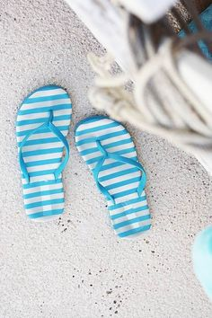 .OMGosh. . . striped flip flops in every color!  I love our surprise freebies!