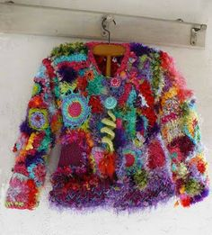 Crocheted jacket.  Yes, please.