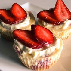 Mini raspberry cheesecakes by Thermomixing it up on www.recipecommunity.com.au