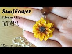 Polymer Clay Sunflower Pendant Tutorial - YouTube